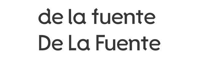 د La Fuente از فونت مدرن رایگان