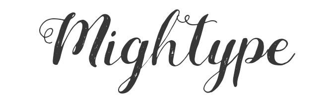 Mightype فونت اسکریپت رایگان
