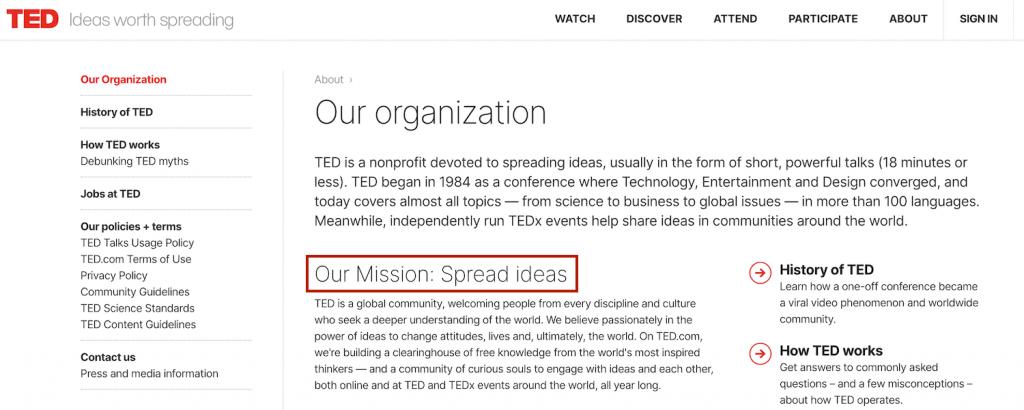 ماموریت نام تجاری TED